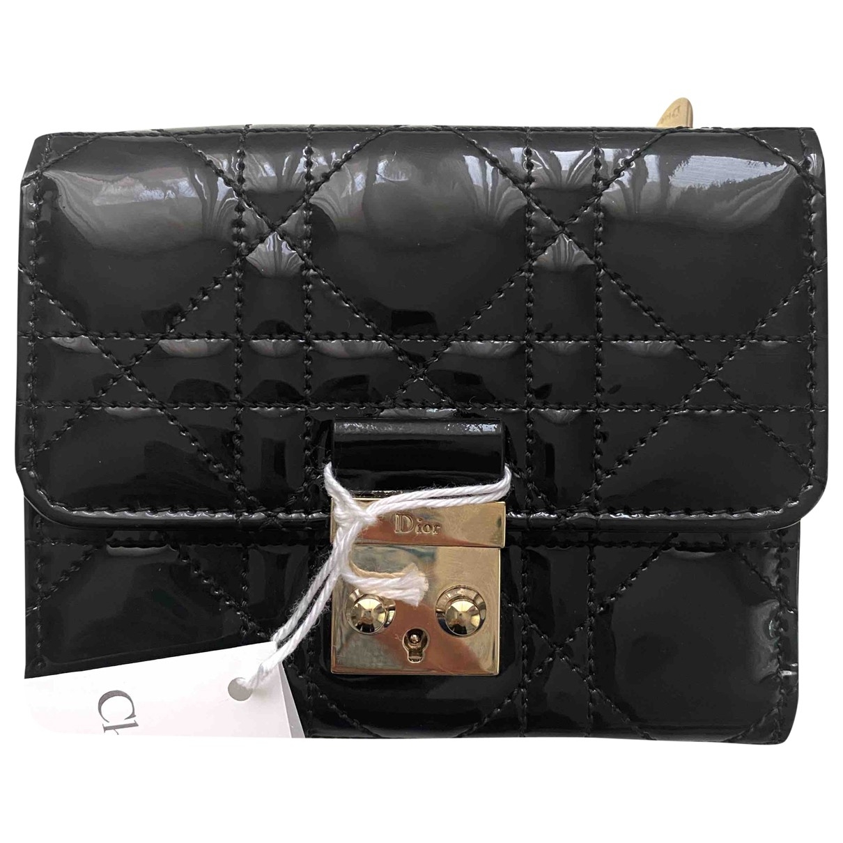 Dior Miss Dior Black Patent leather wallet for Women \N