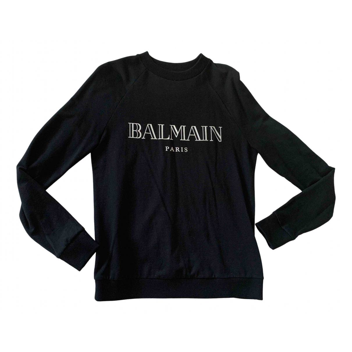 Balmain \N Black Cotton Knitwear for Women 38 FR