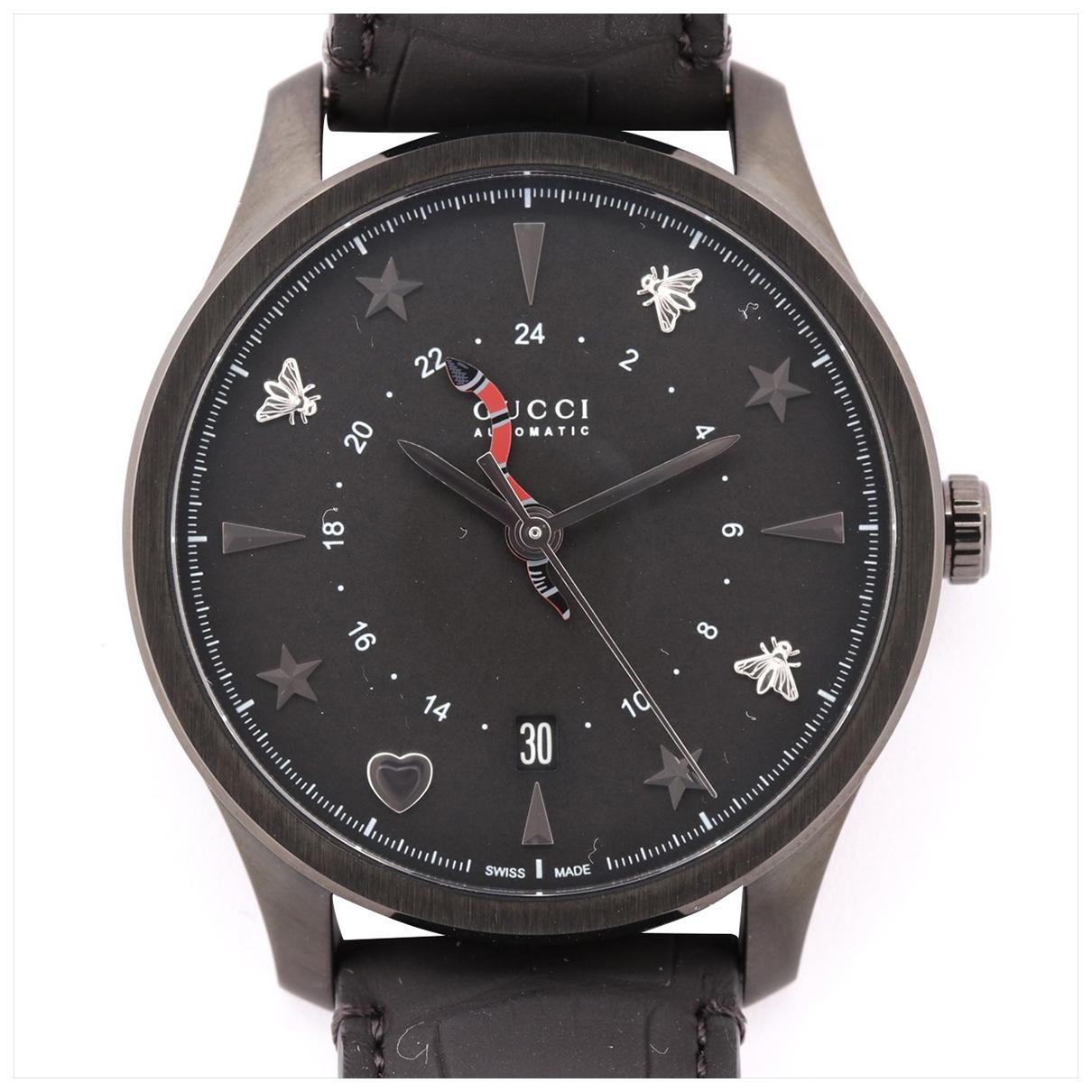 Gucci G-Timeless Uhr in  Schwarz Stahl