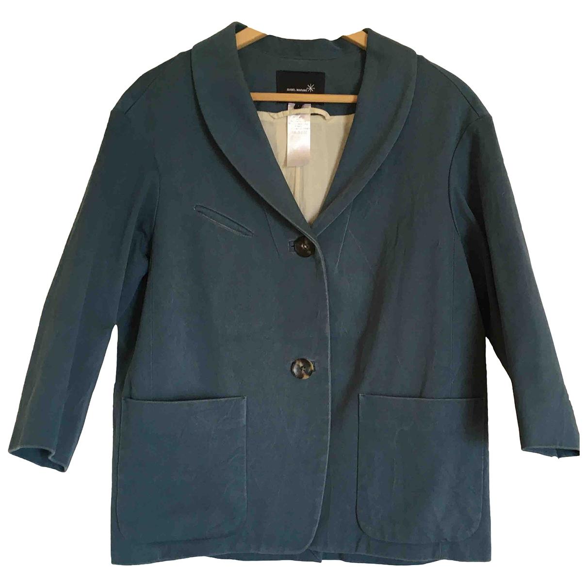Isabel Marant - Manteau   pour femme en coton - bleu