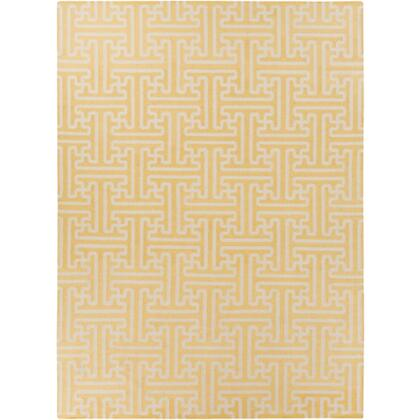 Smithsonian Archive ACH1707-811 8 x 11 Rectangular 100% Wool Hand Woven Reversible Area Rug with No Pile  No Shedding  and Hand Made in India in