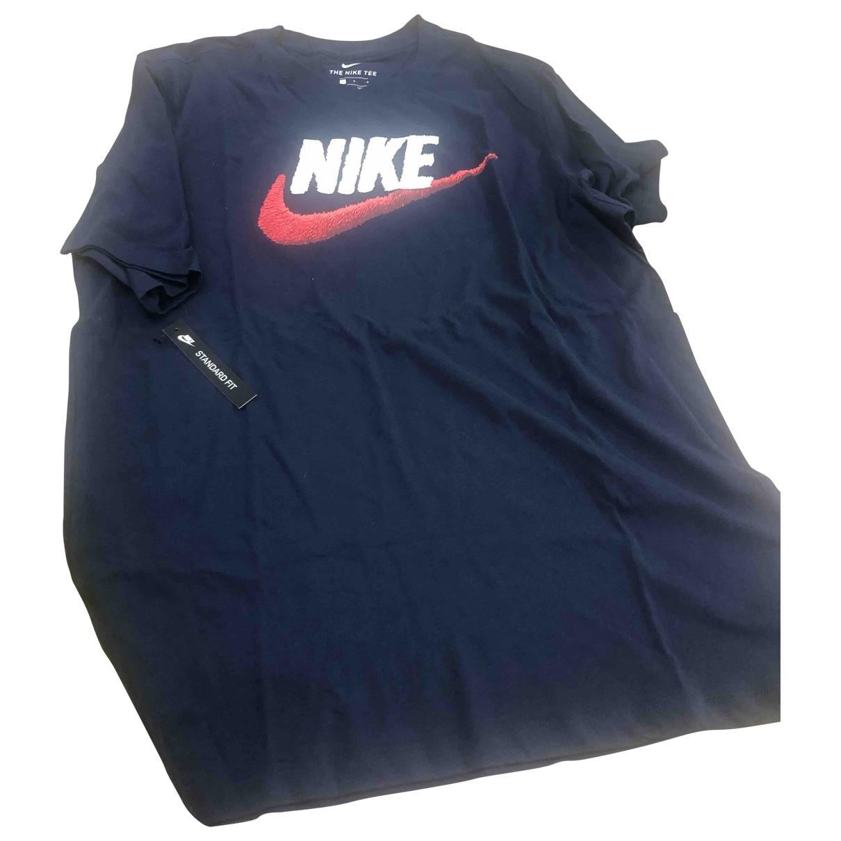 Nike - Tee shirts   pour homme en coton - bleu