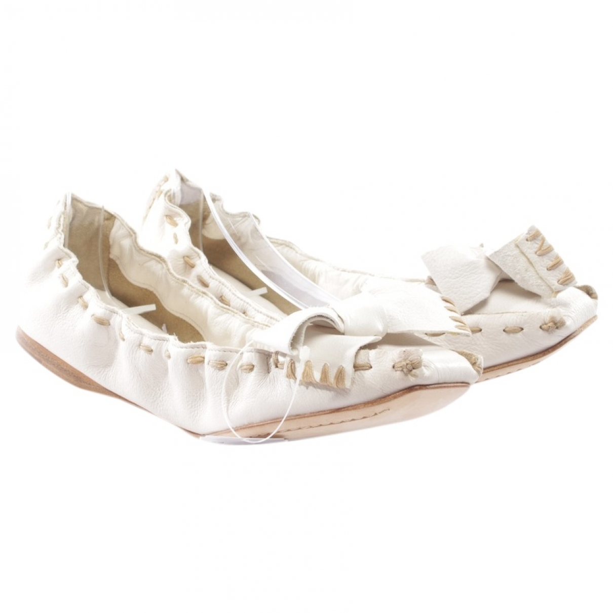 Miu Miu \N White Leather Trainers for Women 39.5 EU