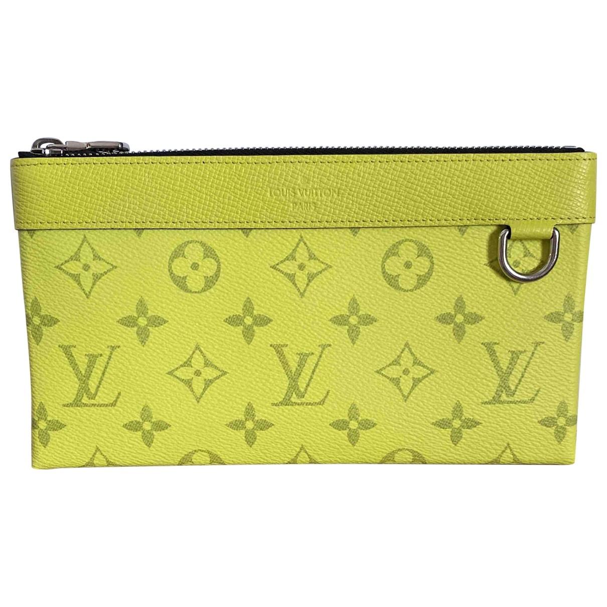 Louis Vuitton \N Kleinlederwaren in  Gelb Leinen