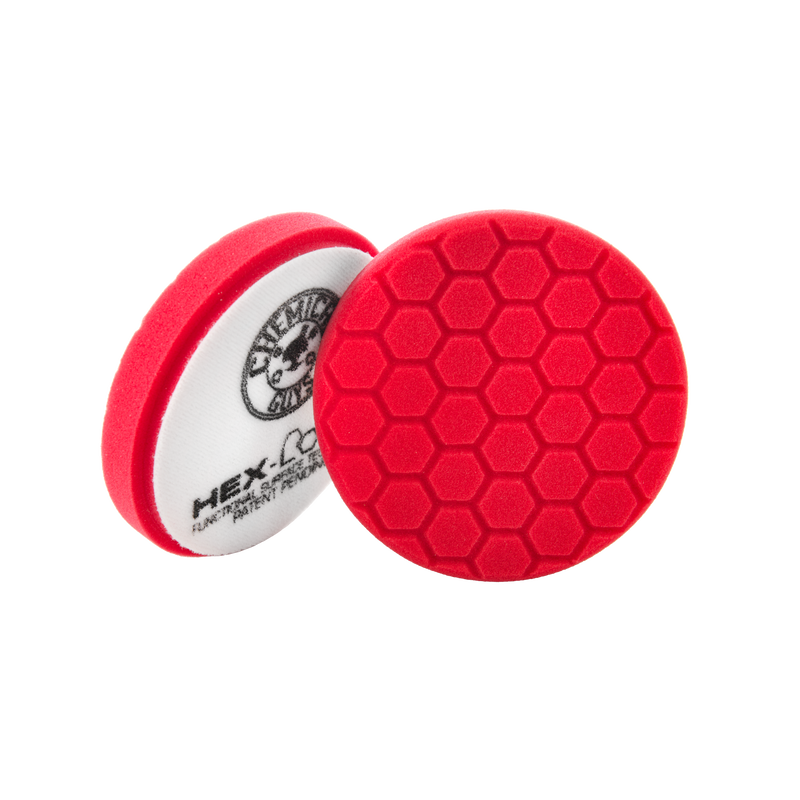 Red Hex-Logic Ultra Light Car Finishing Pad, 5 Inch - Chemical Guys