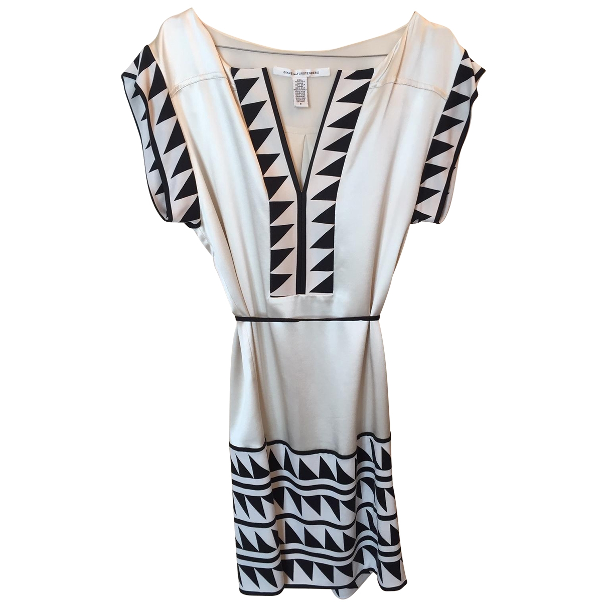 Diane Von Furstenberg \N Kleid in  Weiss Seide