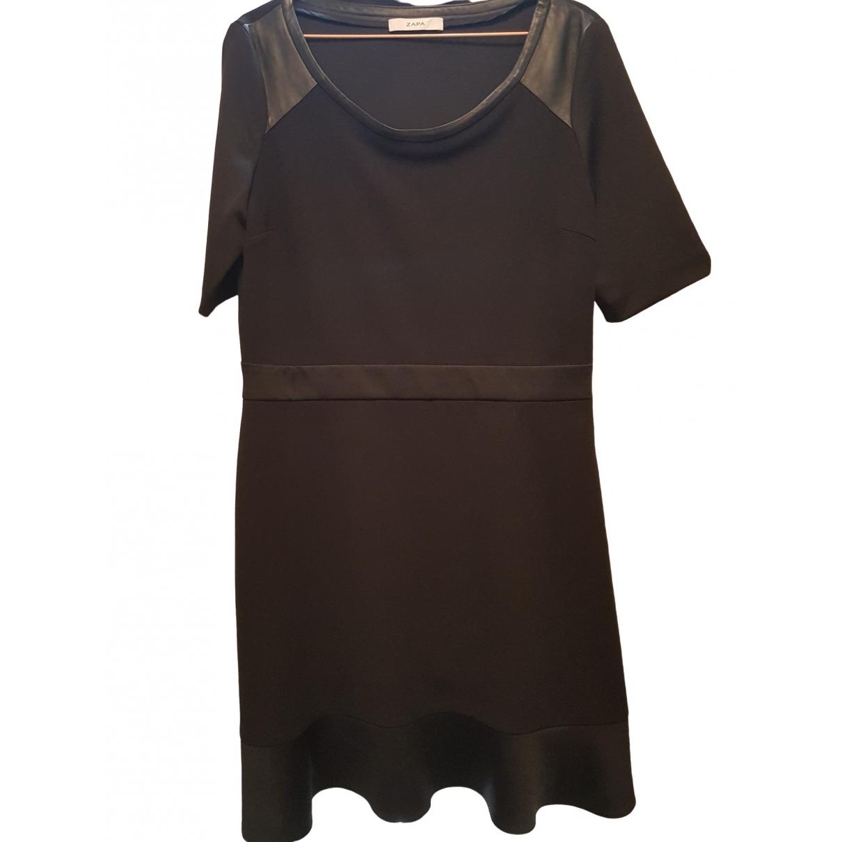 Zapa \N Kleid in  Schwarz Polyester