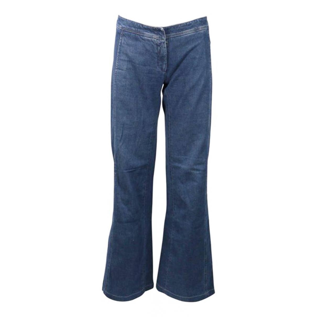Chanel \N Blue Denim - Jeans Trousers for Women 42 FR