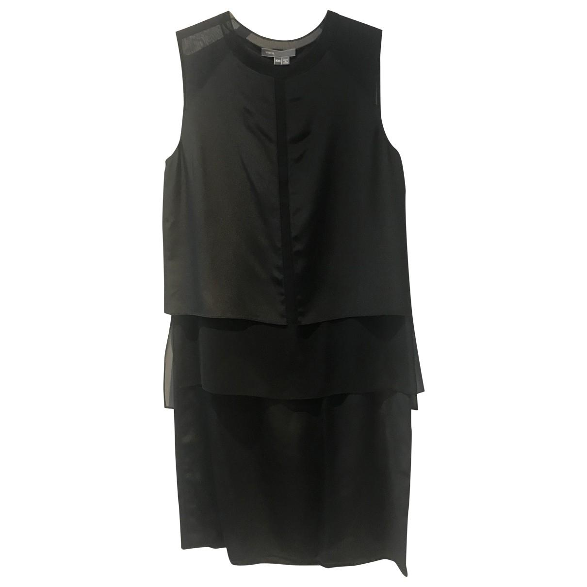 Vince \N Kleid in  Schwarz Seide