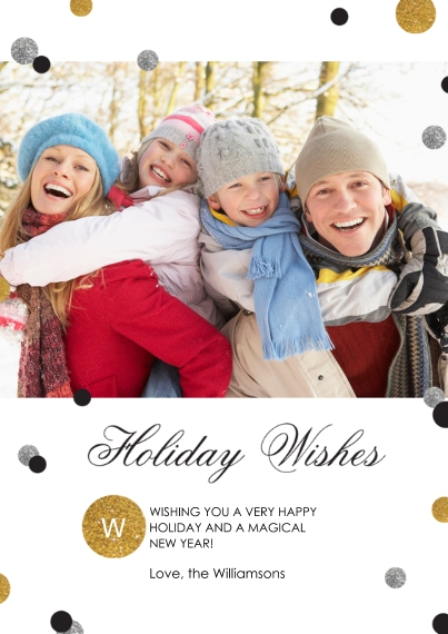 Holiday Photo Cards Flat Glossy Photo Paper Cards with Envelopes, 5x7, Card & Stationery -Luxe Holiday
