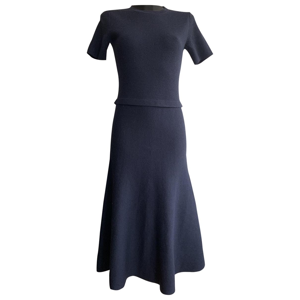 Iris & Ink \N Kleid in  Blau Wolle