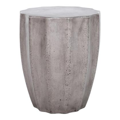 Lucius Collection BQ-1006-25 Outdoor Stool with Fiber Reinforced Natural Concrete in Gray