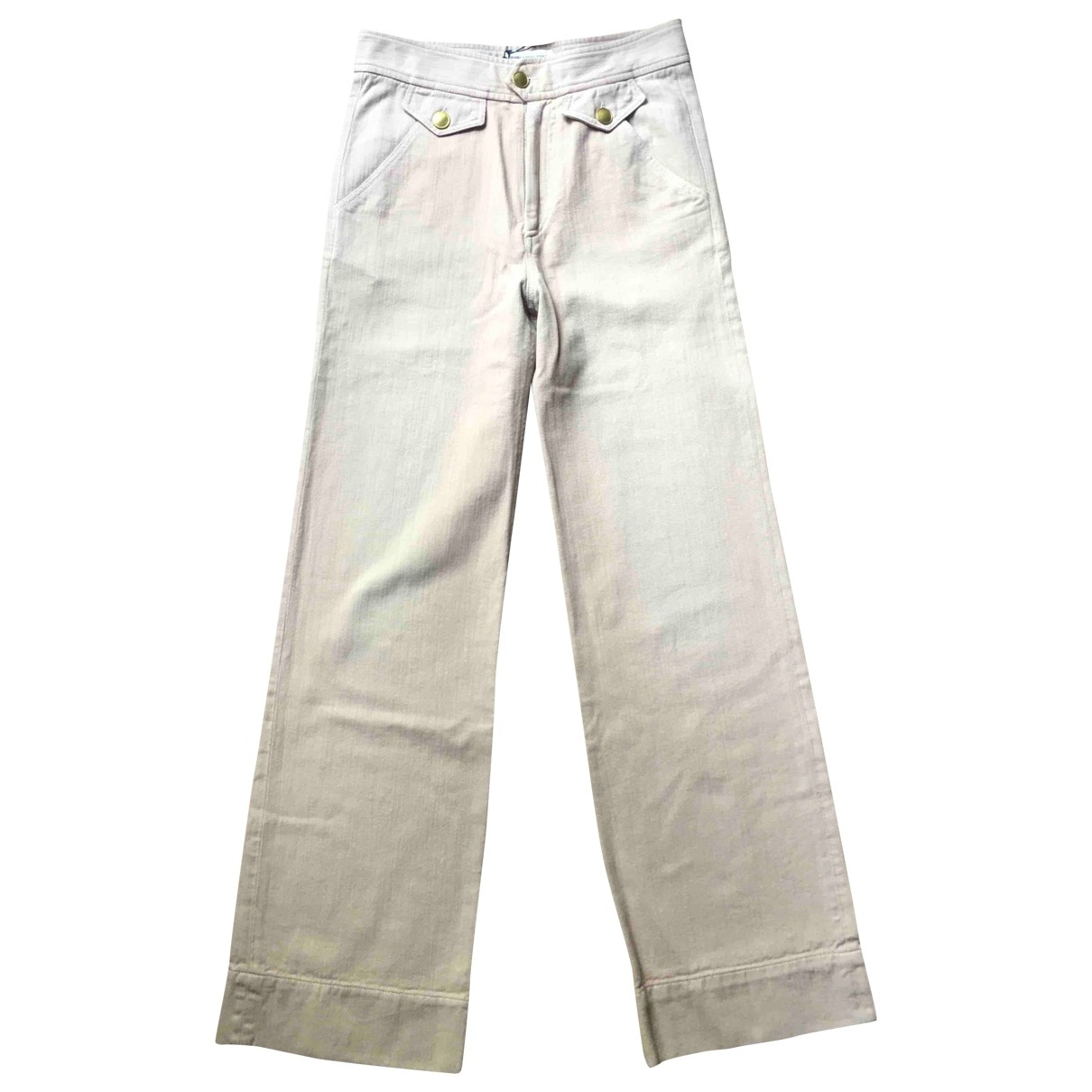 Isabel Marant Etoile \N Pink Cotton Trousers for Women 38 FR