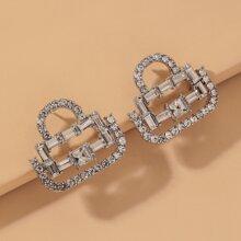 Ohrringe mit Strass Dekor und Sperren Design