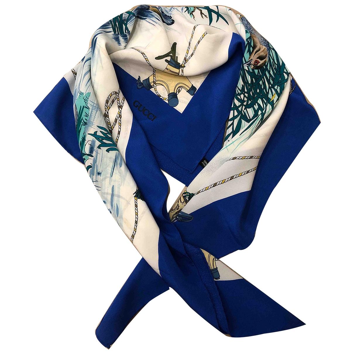 Gucci \N Blue Silk scarf for Women \N