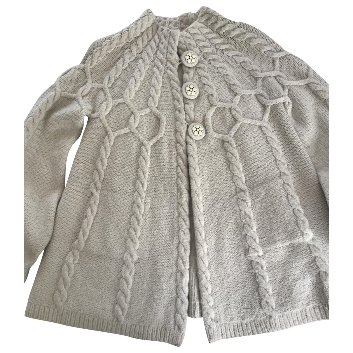 Rebecca Taylor - Pull   pour femme en laine - ecru