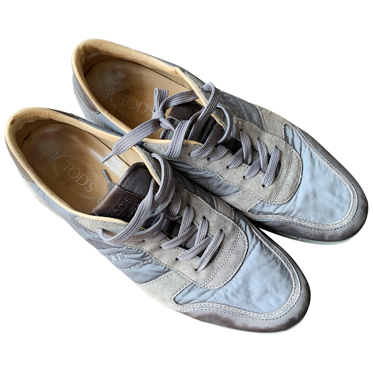 Tod's \N Grey Cloth Trainers for Men 45 EU