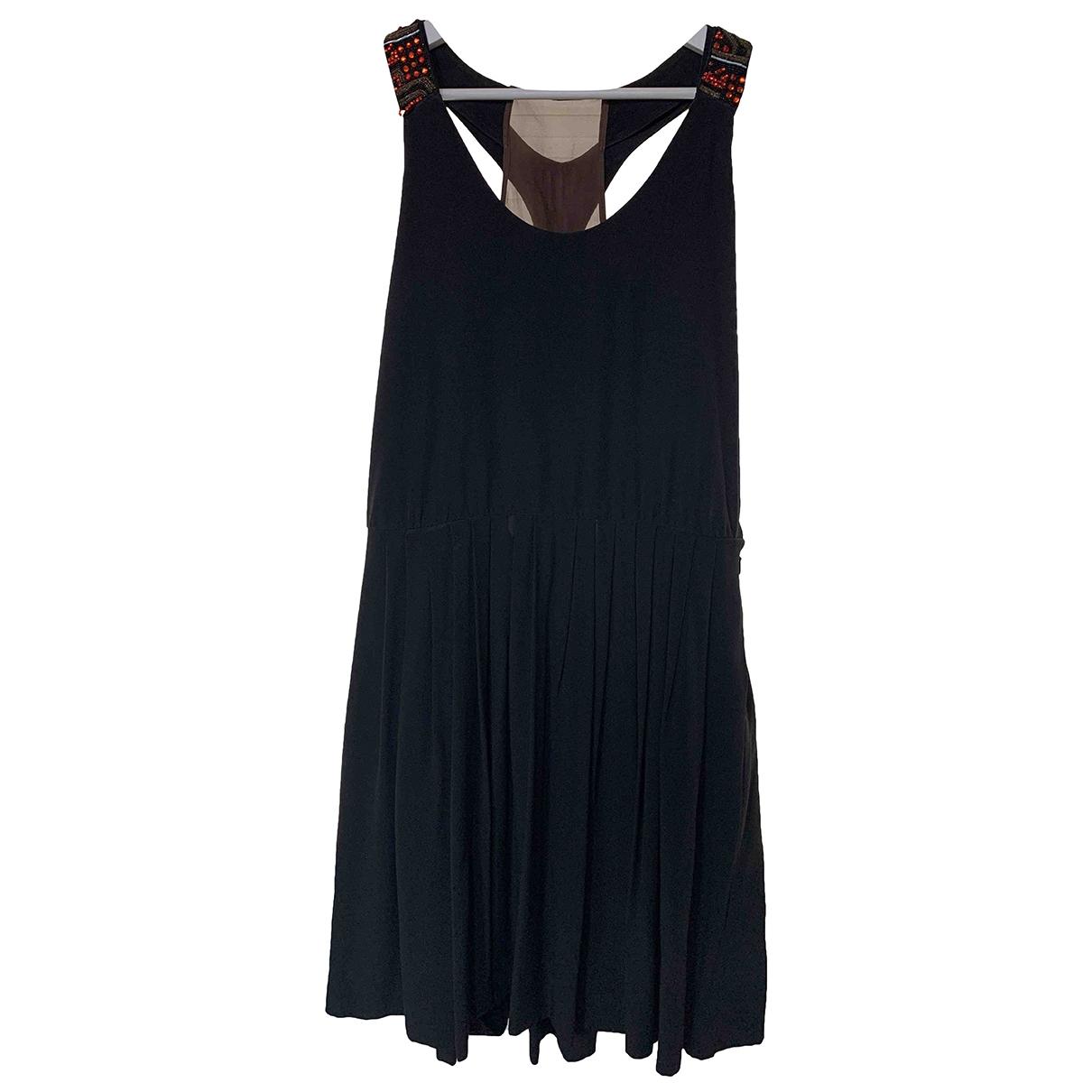 Etro \N Kleid in  Schwarz Seide