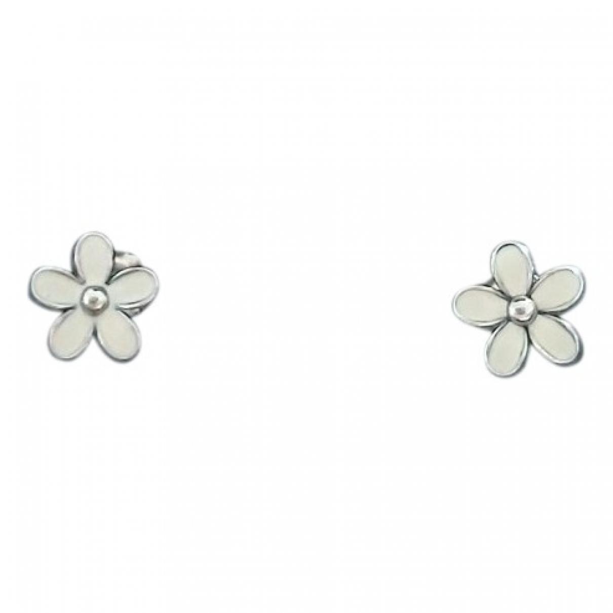 Pandora - Boucles doreilles   pour femme en argent - blanc