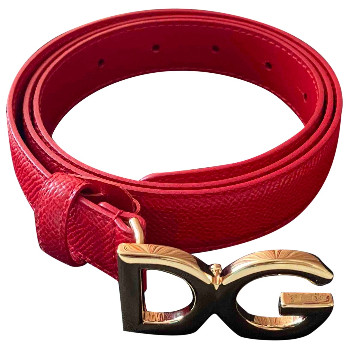 Dolce & Gabbana \N Red Leather belt for Women 95 cm