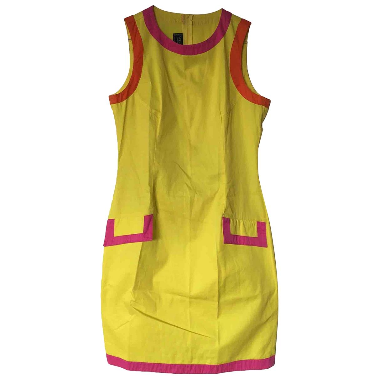 Versace Jean - Robe   pour femme en coton - jaune
