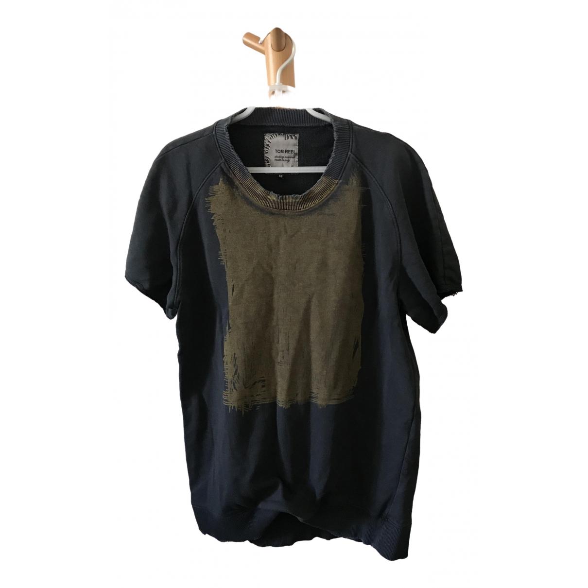 Tom Rebl - Tee shirts   pour homme en coton - noir