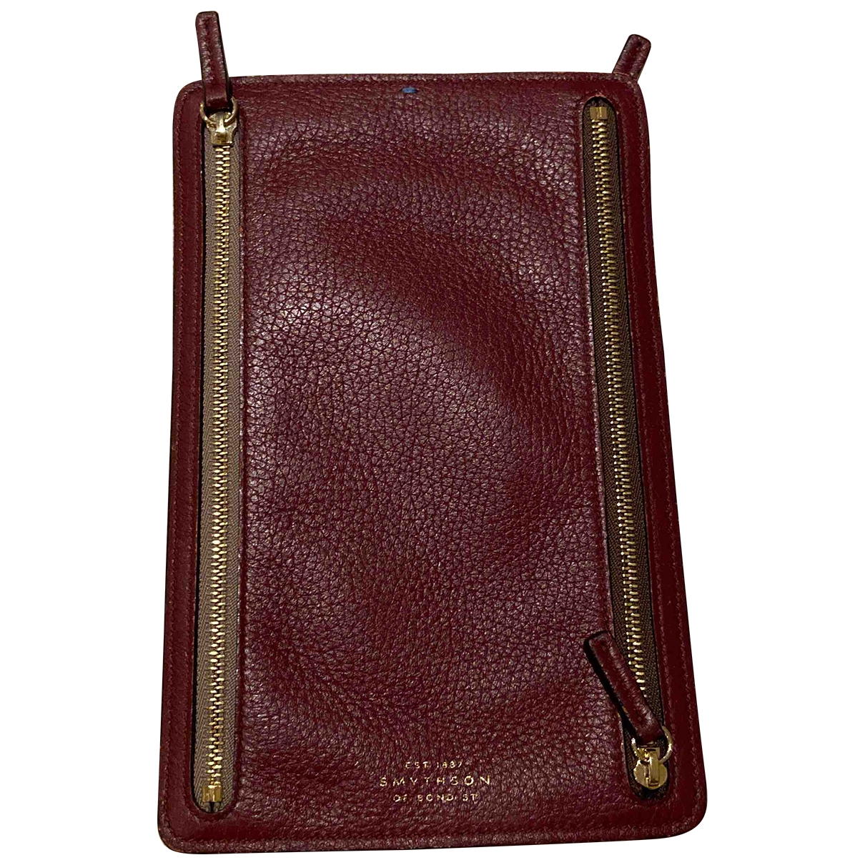 Smythson \N Burgundy Leather Purses, wallet & cases for Women \N
