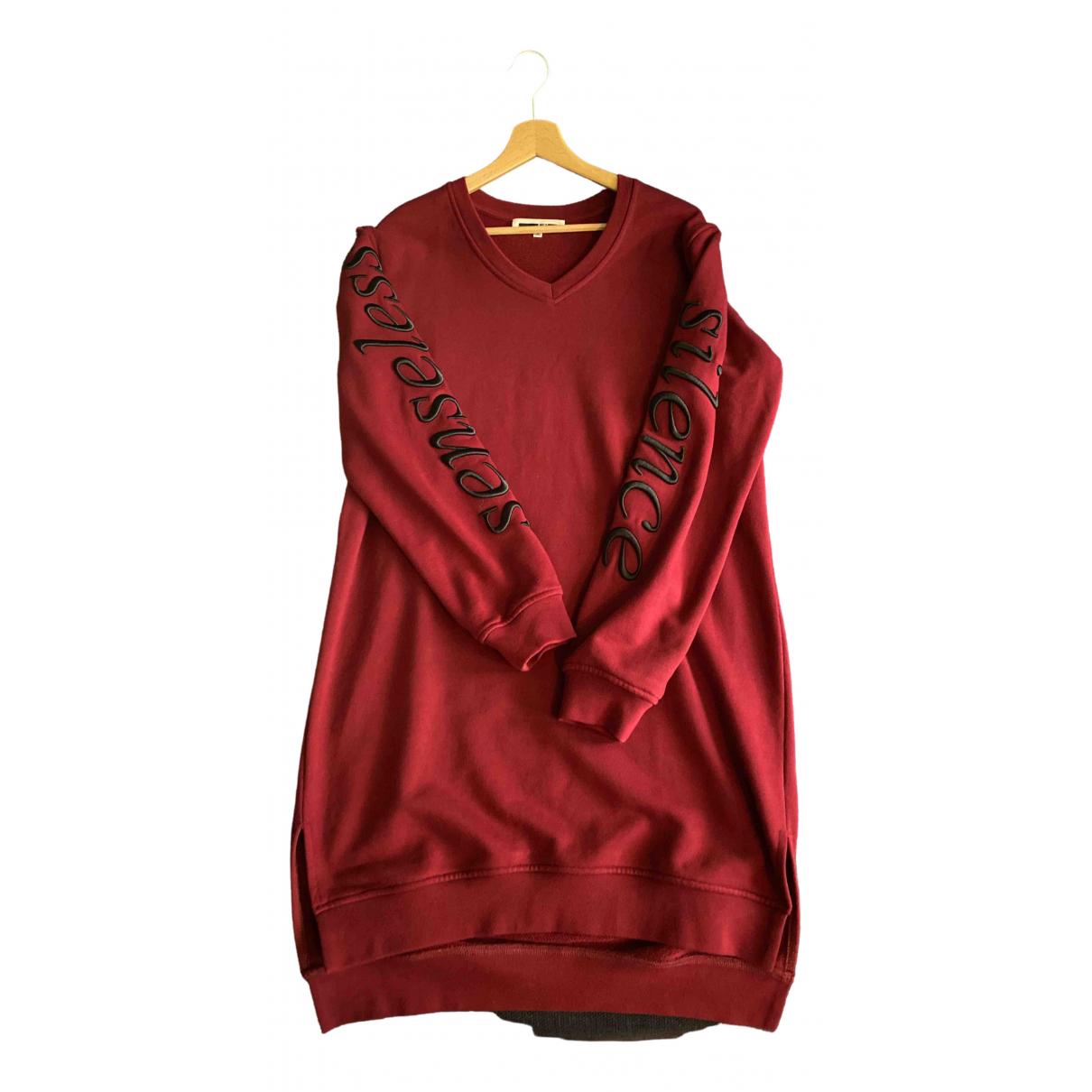 Mcq \N Kleid in  Bordeauxrot Baumwolle