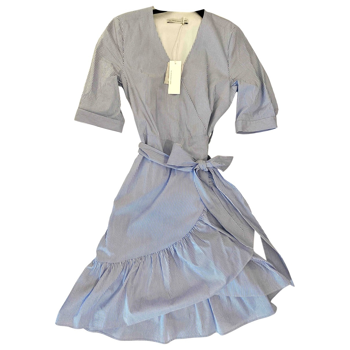 Fallwinterspringsummer \N Blue Cotton dress for Women XS International