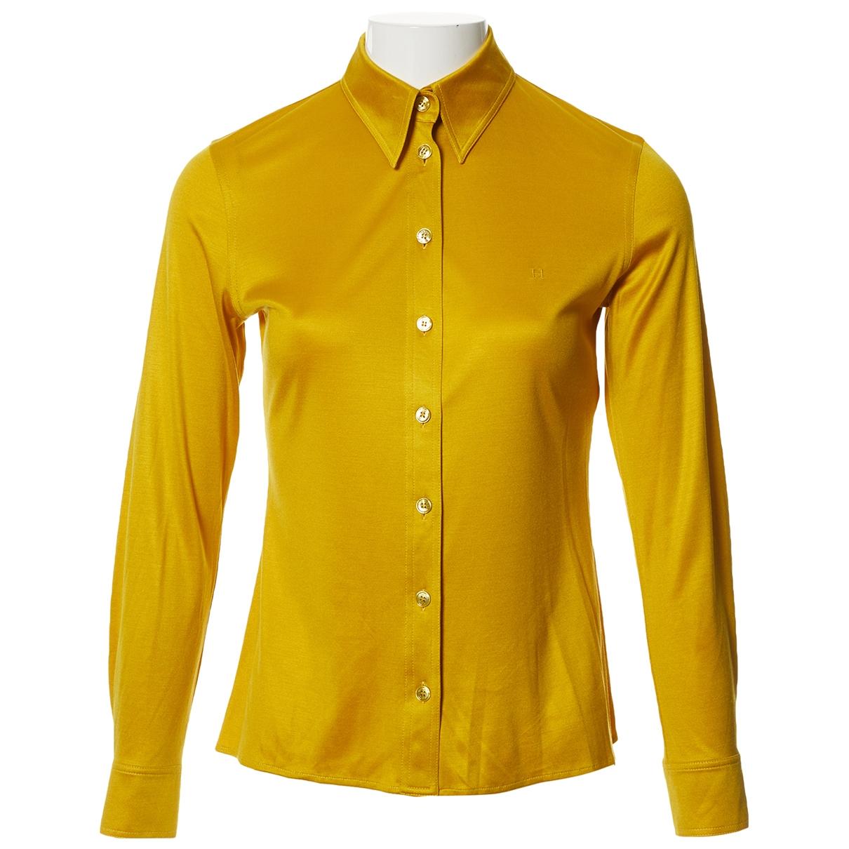 Hermes \N Top in  Gelb Seide