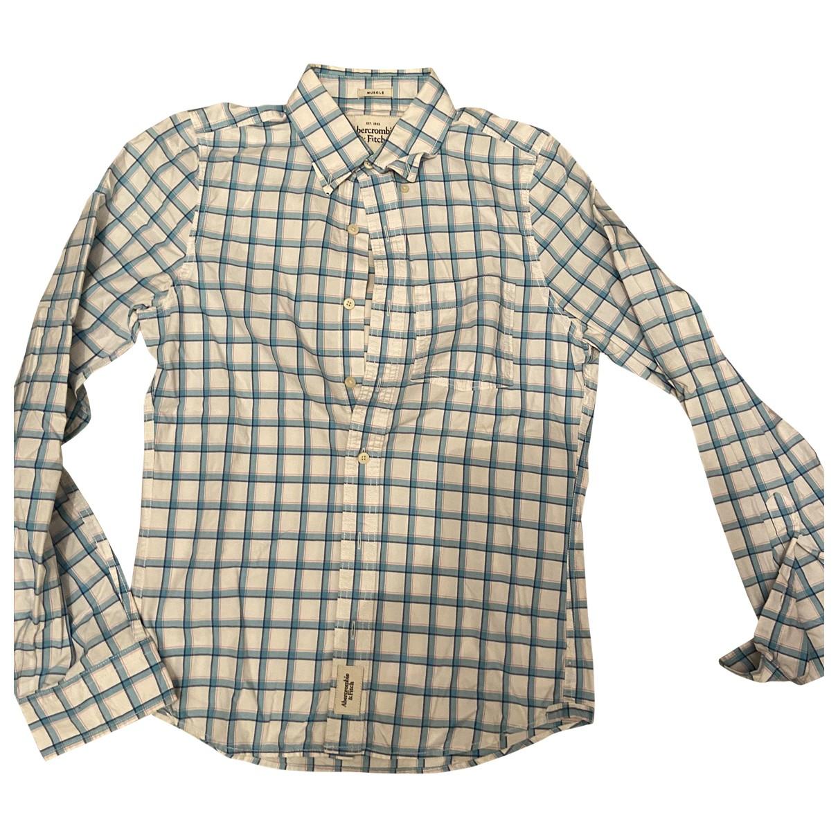 Abercrombie & Fitch - Chemises   pour homme en coton - blanc