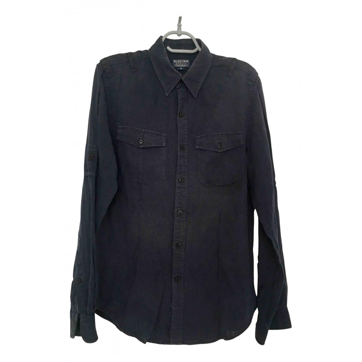 Polo Ralph Lauren - Chemises   pour homme en lin - bleu