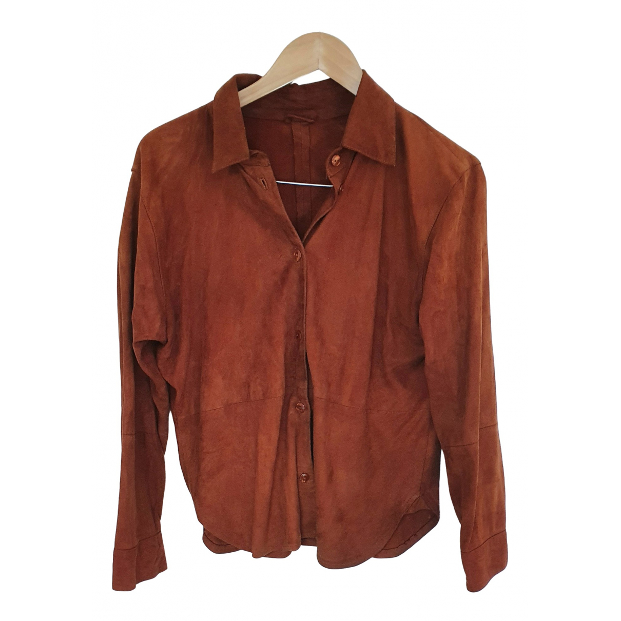 Mac Douglas N Brown Leather jacket for Women 42 FR