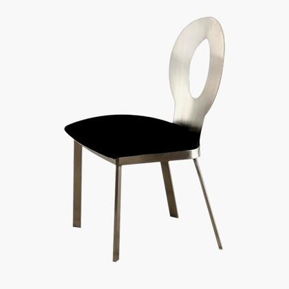 BM131327 Valo Side Chair With Black Micro Fabric Cushion Chrome  Set Of