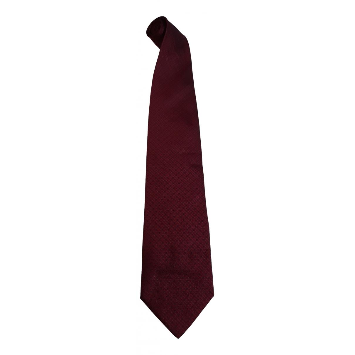 D&g \N Burgundy Silk Ties for Men \N