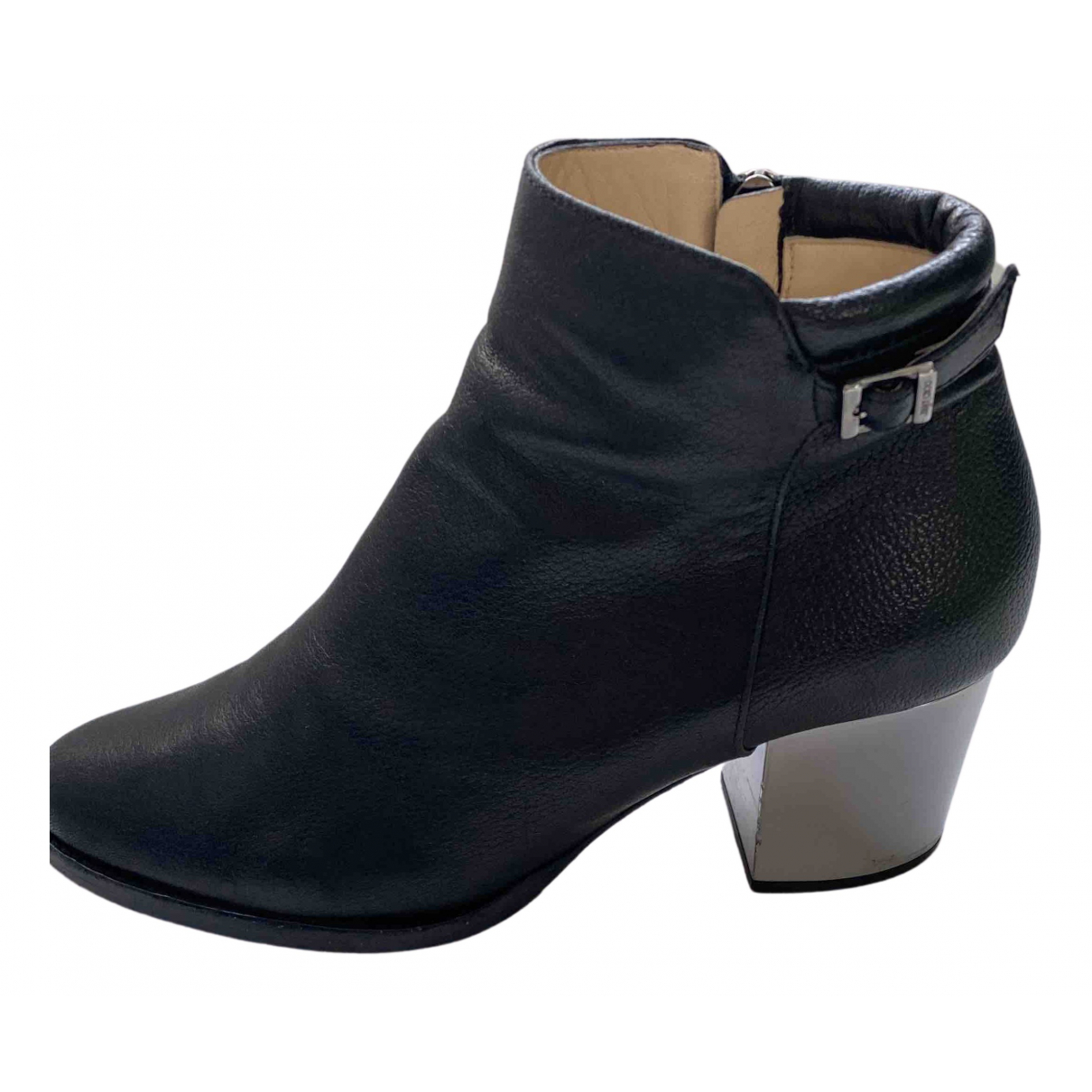 Jimmy Choo N Black Leather Ankle boots for Women 38 EU