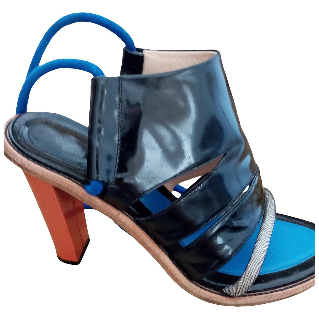 Kenzo \N Sandalen in  Blau Lackleder
