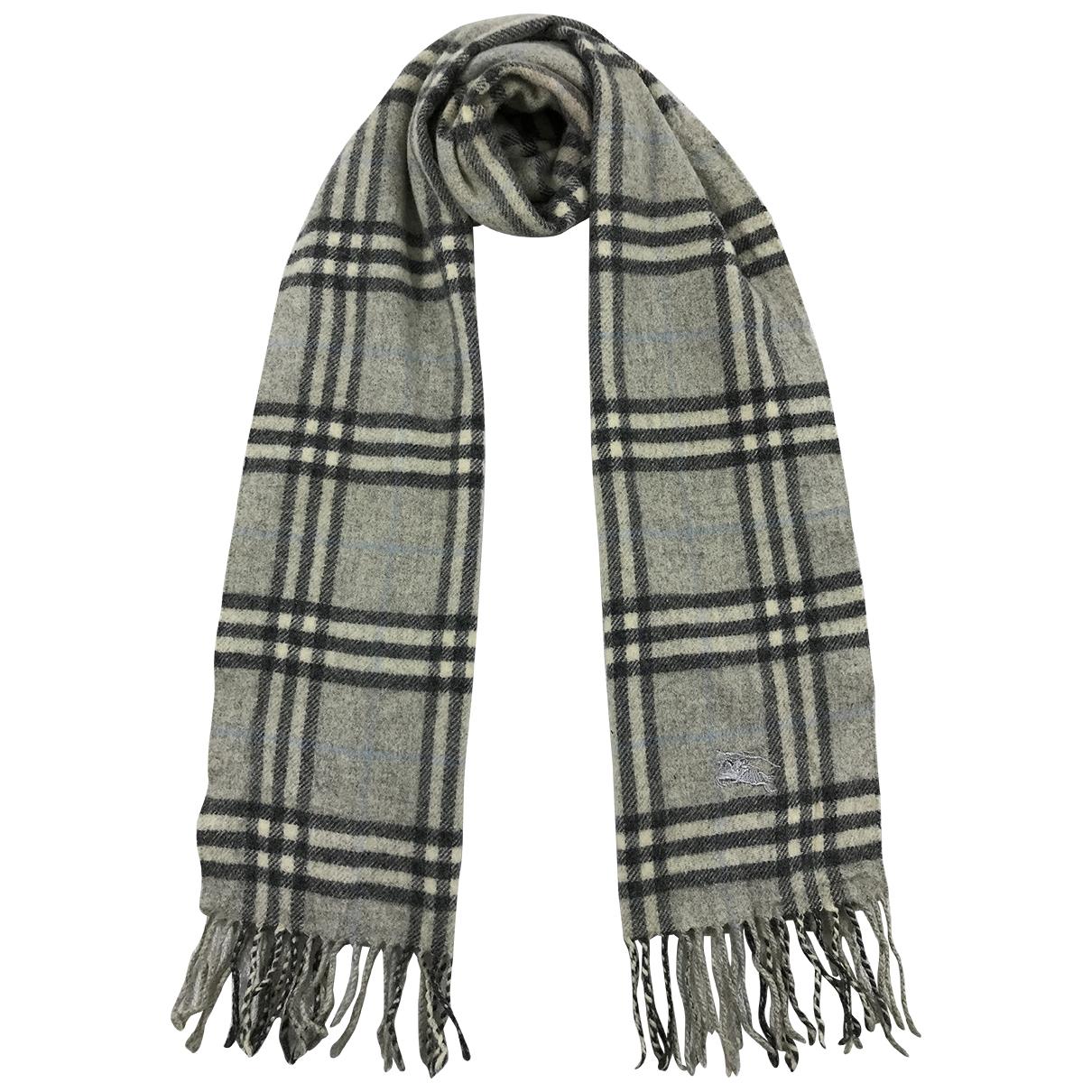 Burberry - Foulard   pour femme en cachemire - gris