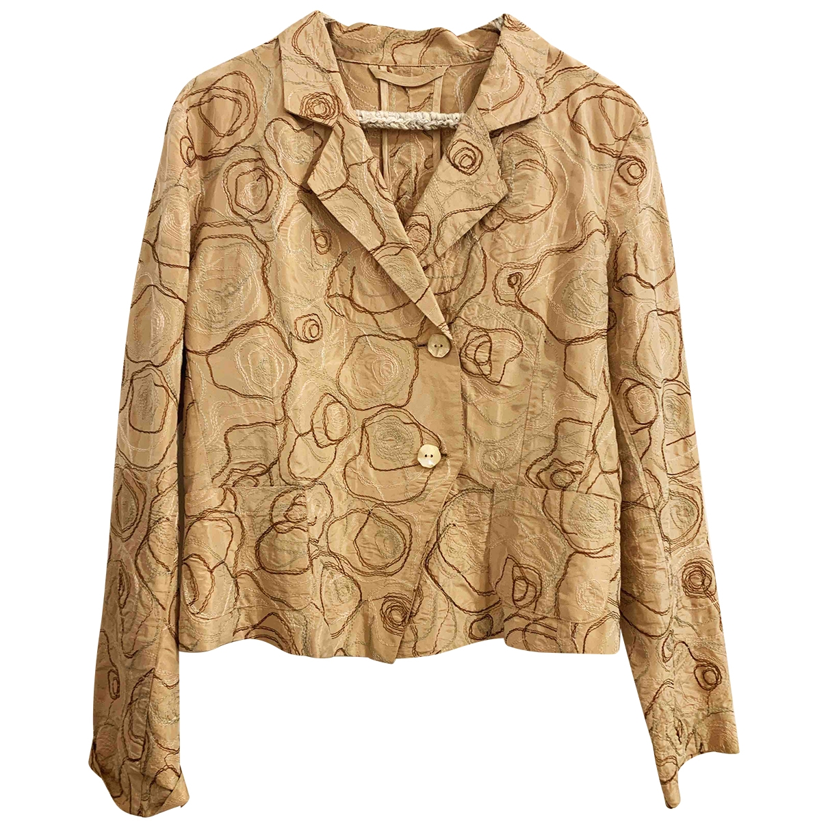 Non Signé / Unsigned \N Beige Silk jacket for Women 42 IT