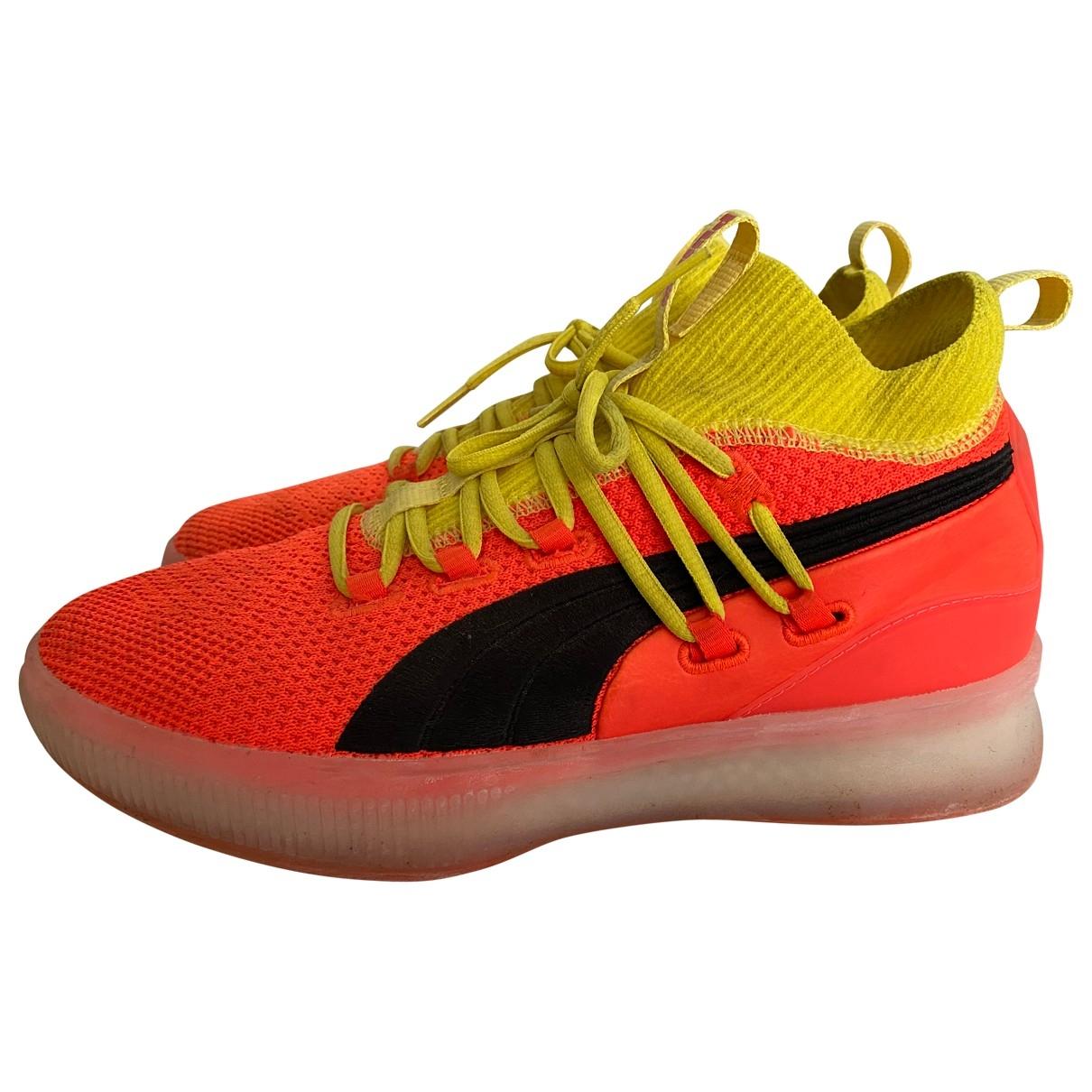 Puma \N Sneakers in  Orange Leinen