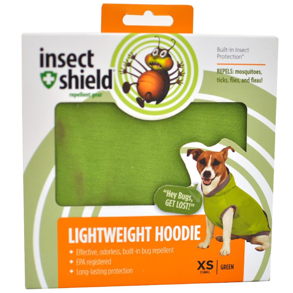 Insect Shield Lightweight Hoodie XSmall - Green
