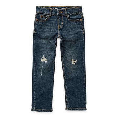 Arizona Little & Big Boys Stretch Slim Fit Jean, 20 , Black