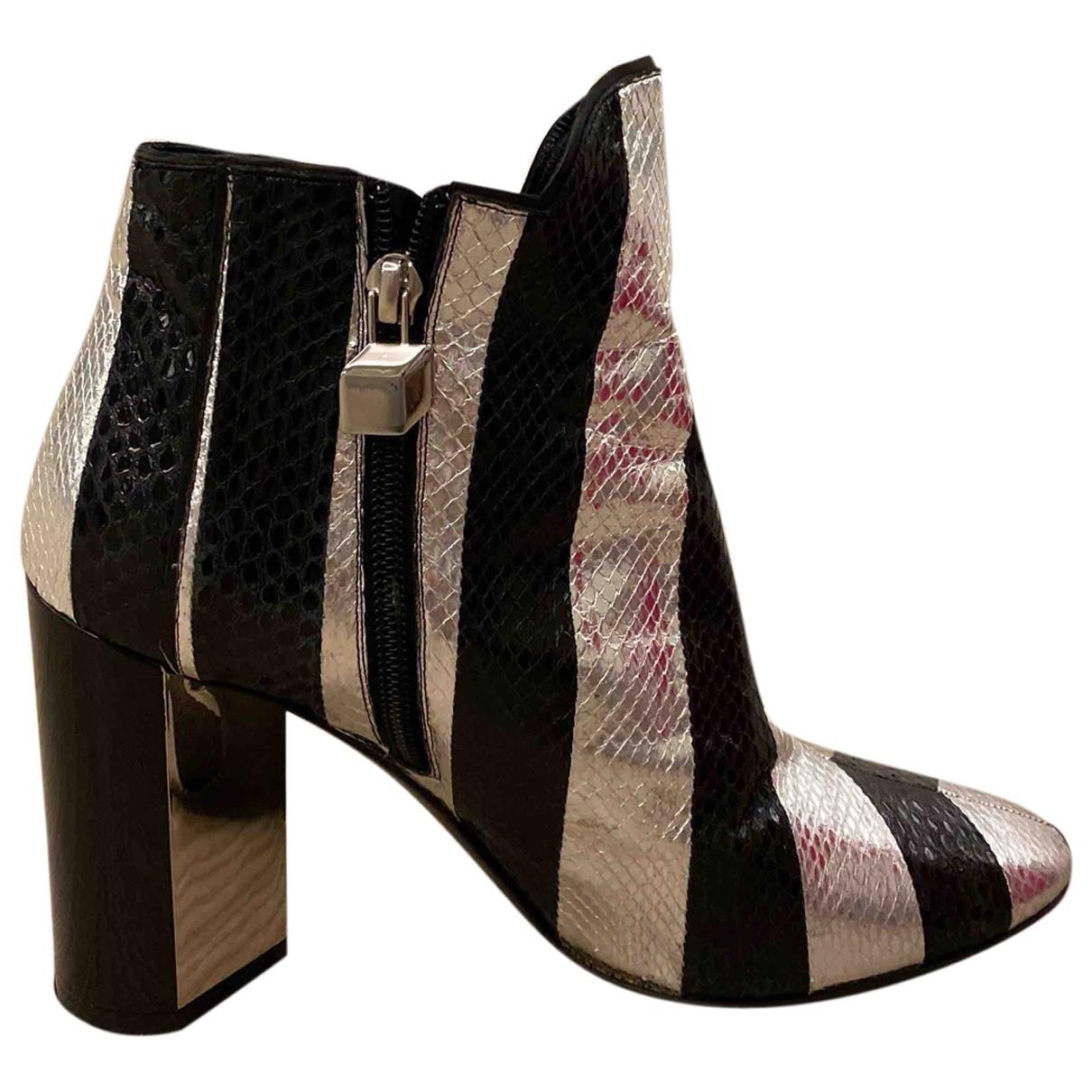 Pierre Hardy - Boots   pour femme en cuir - metallise