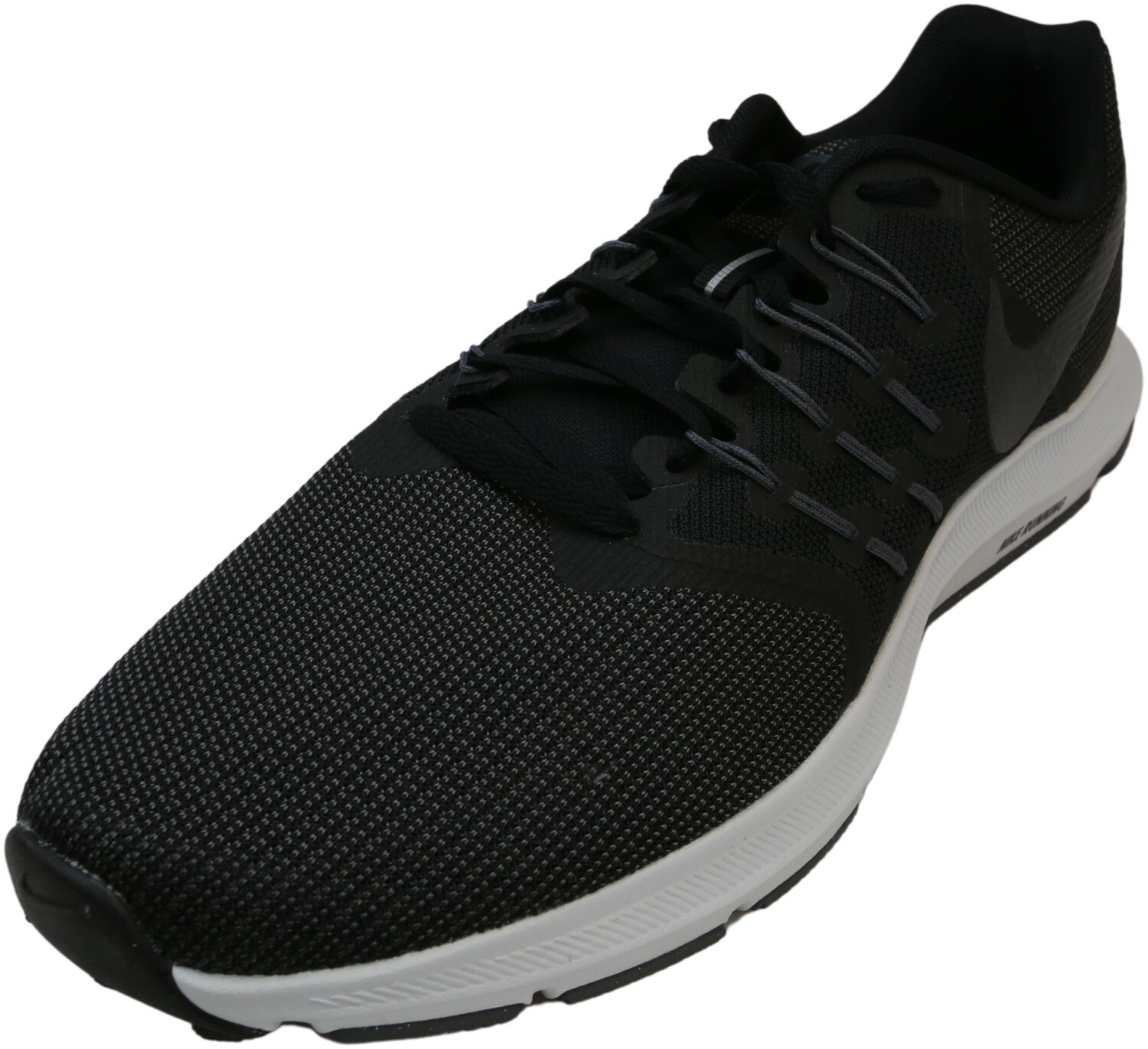 Nike Women's Run Swift Black / Metallic Hematite-Dark Grey Low Top Mesh Running - 12M