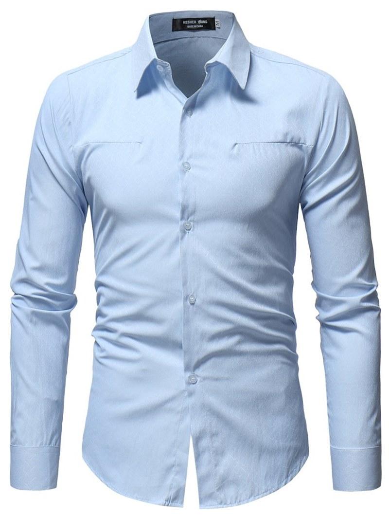 Ericdress Plain Button Up Mens Casual Dress Shirts