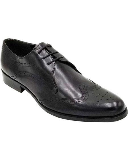 Mens Black Cap Toe Unique Zota Mens Dress Shoe