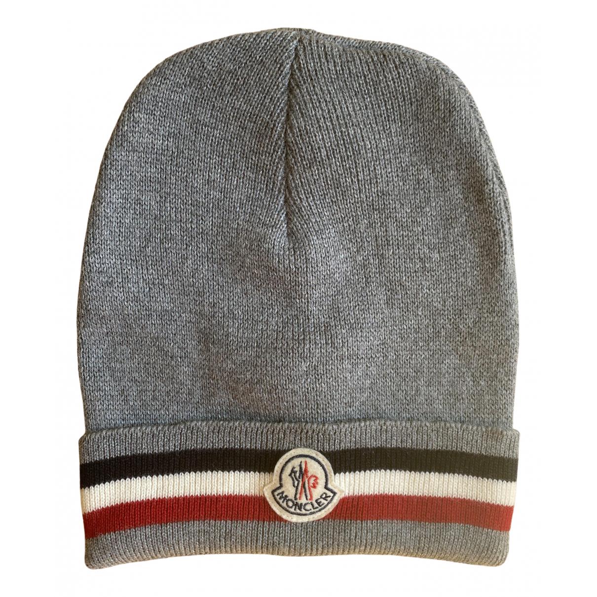 Moncler \N Grey Cotton hat & pull on hat for Men 56 cm