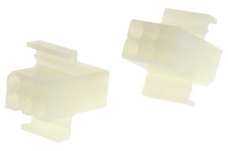 Molex 5.03mm 6-Way Housing Receptacle, 2-Row Female, 03-09-1061 (10)