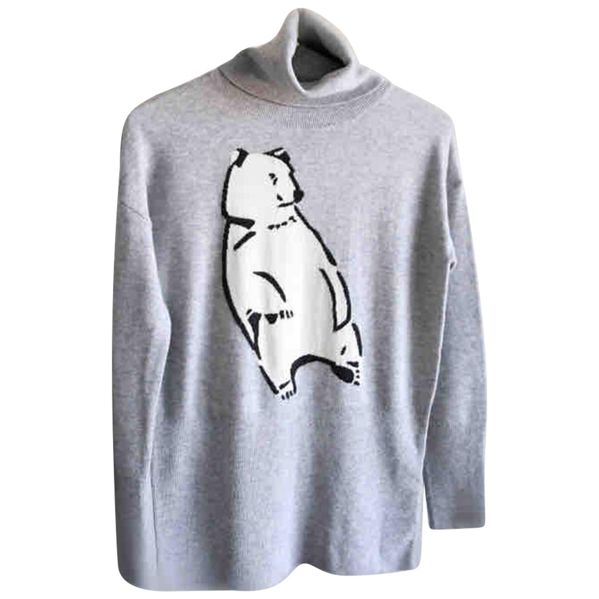 Markus Lupfer \N Pullover in  Grau Wolle