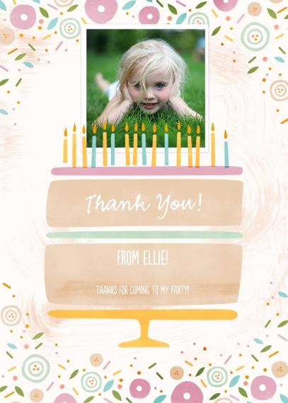 Birthday Thank You Mail-for-Me Premium 5x7 Folded Card , Card & Stationery -BirthdayCakeDelightThankYou